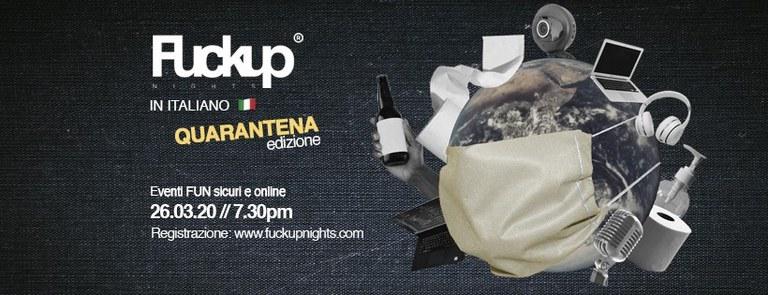Fuckup Nights in italiano [Edizione Quarantena]