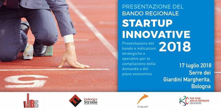 Presentazione del Bando Regionale per Startup Innovative 2018