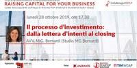 Raising Capital for your Business Chap III: II processo d'investimento: dalla lettera d'intenti al closing
