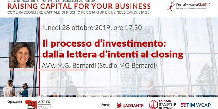 Raising Capital for your Business Chap III: II processo d'investimento: dalla lettera d'intenti al closing